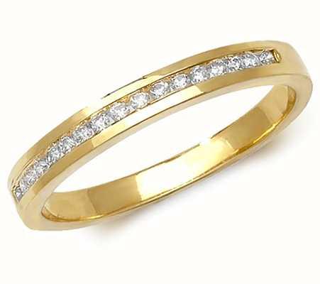 James Moore TH 9ct Yellow Gold Diamond Channel Set Half Eternity RD566/N