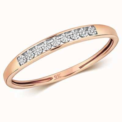 Treasure House 9k Rose Gold Diamond Illusion Eternity Ring RD693R/N