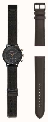 Breil | Gents Black Stainlss Steel Mesh Watch | Changeable Strap | TW1808