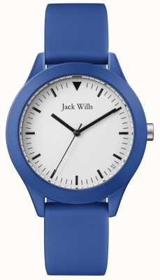Jack Wills | Gents Blue Rubber Strap | White Dial | JW009BTBL