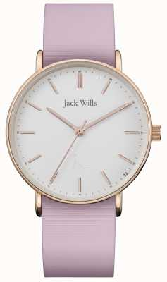 Jack Wills | Ladies Sandhill Pink Silicon Strap | White Dial | JW018WHPK