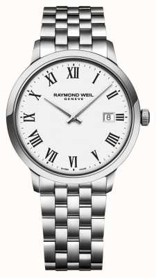 Raymond Weil | Mens Toccata Stainless Steel Bracelet | White Dial | 5485-ST-00300