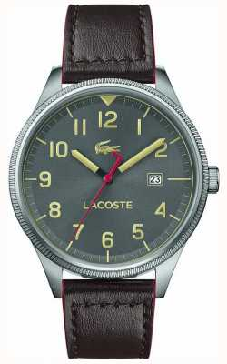 Lacoste | Mens Continental | Brown Leather Strap | Grey Dial | 2011020
