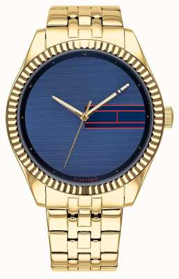 Tommy Hilfiger | Womens Gold Tone Stainless Steel | Blue Dial | 1782081