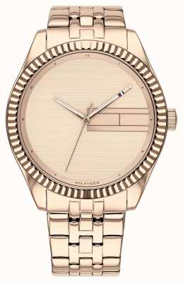 Tommy Hilfiger | Womens Rose Gold Stainless Steel Bracelet | Rose Gold Dial 1782082