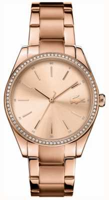 Lacoste Womens Parisienne Rose Gold PVD Plated Steel Pracelet 2001084