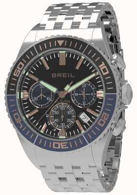 Breil | Mens Manta 1970 Solar | Black Dial | Dark Blue/Black Bezel TW1822