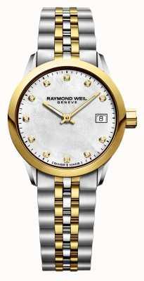 Raymond Weil Womens Freelancer Diamond Two Tone Stainless Steel 5626-STP-97081