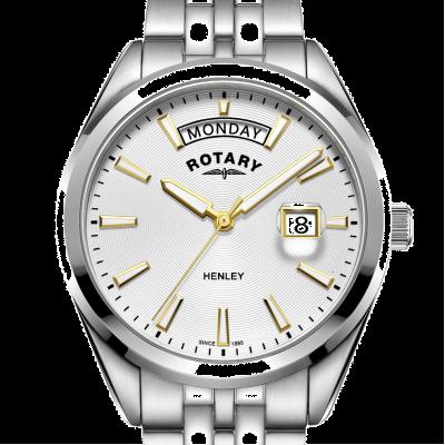 Rotary   Mens Henley   White Dial   Silver Stainless Steel Bracelet GB05290/70