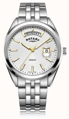Rotary | Mens Henley | White Dial | Silver Stainless Steel Bracelet GB05290/70