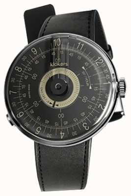 Klokers KLOK 08 Black Dial Black Satin Single Strap KLOK-08-D3+KLINK-01-MC1