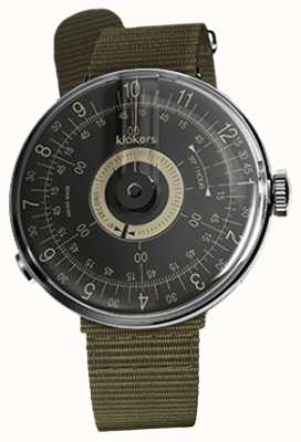 Klokers KLOK 08 Black Dial Lichen Green Textile Single Strap KLOK-08-D3+KLINK-03-MC2