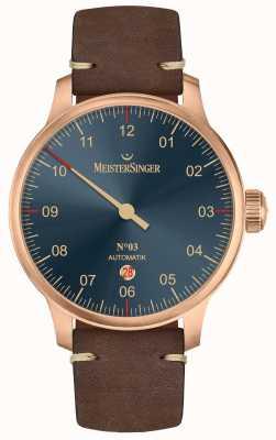 MeisterSinger Bronze Line No 03 Dark Brown Calfskin AM917BR