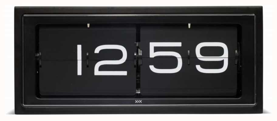 Leff Amsterdam | Black Brick Clock | LT15401