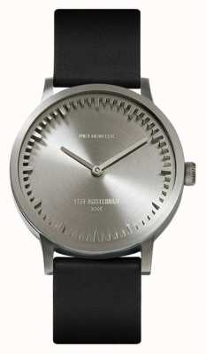 Leff Amsterdam | Tube Watch | T32 | Steel | Black Leather Strap | LT74111