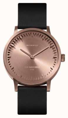Leff Amsterdam | Tube Watch | T32 | Rose Gold | Black Leather Strap | LT74414