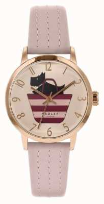 Radley | Womens Light Pink Leather Strap | Printed Dog In Bag Dial RY2794