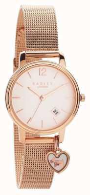Radley   Womens Rose Gold Mesh Bracelet   Rose Gold Dial  
