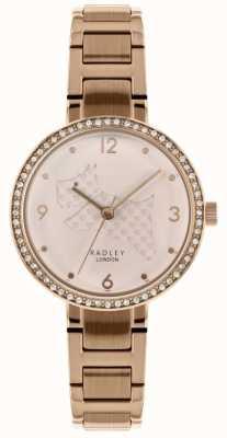 Radley | Womens Rose Gold Steel Bracelet | Cut Out Dog Dial | RY4394