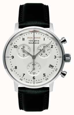 Junkers Iron Annie | Bauhaus | Chrono | White Dial | Black Leather 5096-1