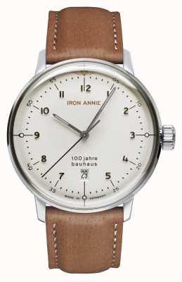 Iron Annie Bauhaus | White Dial | Brown Leather Strap 5046-1