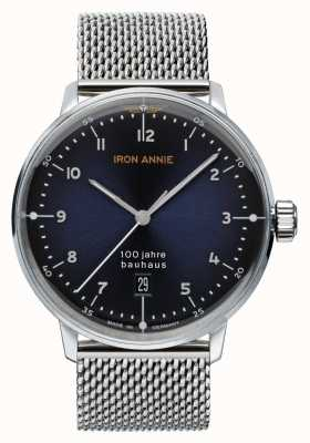 Junkers Iron Annie | Bauhaus | Blue Dial | Stainless Steel Mesh 5046M-3