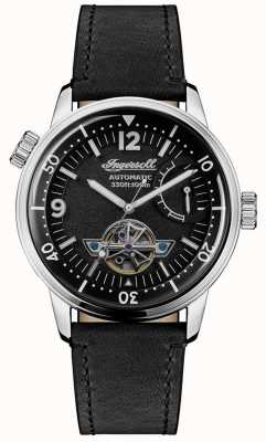 Ingersoll | Mens New Orleans | Black Leather Strap | Black Dial | I07801