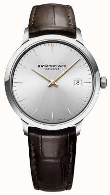 Raymond Weil | Mens Toccata | Brown Leather Strap | Silver Dial | 5485-SL5-65001
