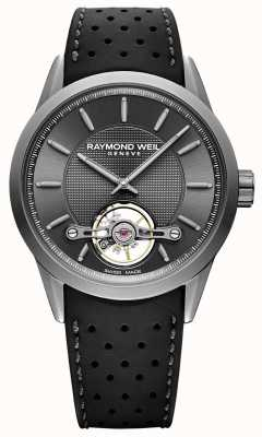 Raymond Weil Mens | Freelancer | Automatic | Grey Dial | Black Rubber 2780-TIR-60001