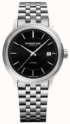Raymond Weil Mens | Maestro | Automatic | Black Dial | Stainless Steel 2237-ST-20011