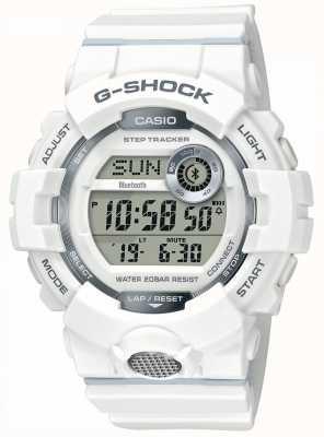 Casio | G-Shock | Sports Watch, Step Tracker | White Rubber Strap GBD-800-7ER