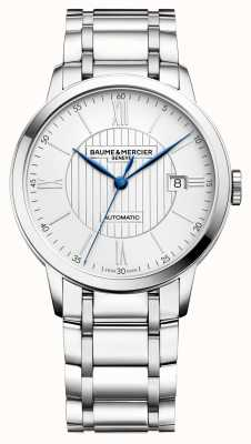 Baume & Mercier | Mens Classima | Automatic | Stainless Steel | Silver Dial M0A10215
