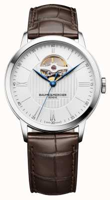 Baume & Mercier | Mens Classima | Brown Leather | Silver Dial | Automatic | BM0A10274