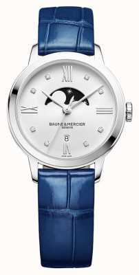Baume & Mercier | Womens Classima | Blue Leather | Silver Moonphase Dial | BM0A10329