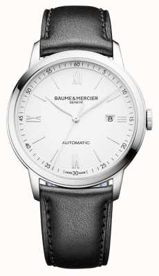 Baume & Mercier | Mens Classima | Automatic | Black Leather | White Dial | BM0A10332