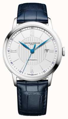 Baume & Mercier | Mens Classima | Automatic | Blue Leather | Silver Dial | BM0A10333