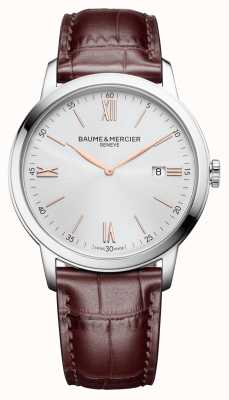 Baume & Mercier | Mens Classima | Light Brown Leather | Silver Dial | BM0A10415