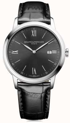 Baume & Mercier | Mens Classima | Black Leather | Slate Grey Dial | BM0A10416