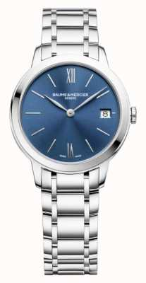 Baume & Mercier | Womens Classima | Stainless Steel | Blue Sunray Dial | M0A10477