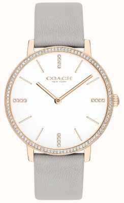 Coach | Womens | Audrey | Grey Leather Strap | White Dial | 14503352