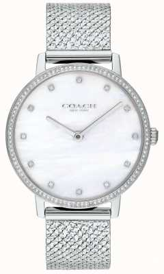 Coach | Womens | Audrey | Stainless Steel Mesh | Pearl Dial | 14503358