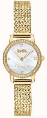 Coach | Womens | Audrey | Gold PVD Mesh | Pearl Dial | 14503371