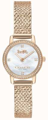Coach | Womens | Audrey | Rose Gold PVD Mesh | Pearl Dial | 14503372