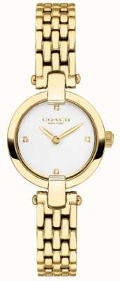 Coach | Womens | Chrystie | Gold PVD Bracelet | White Dial | 14503391