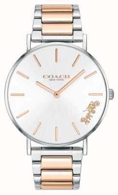 Coach | Womens | Perry | Two Tone Bracelet | Silver Dial | 14503346