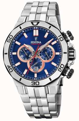 Festina Chrono Bike 2019 | Stainless Steel Bracelet | Blue Dial F20448/1