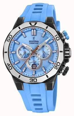 Festina Chrono Bike 2019 | Light Blue Rubber Strap | Light Blue Dial F20450/6
