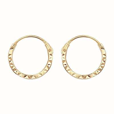 James Moore TH 9k Yellow Gold 8mm Hinged Sleepers ES316