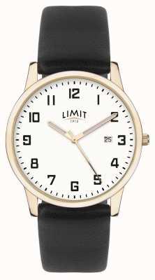 Limit | Mens Black Leather | Silver Dial | Gold Case | 5742.01