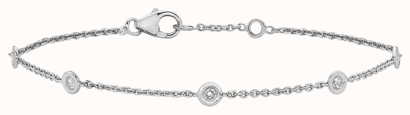 James Moore TH 9k White Gold .35ct Diamond Bracelet BD016W